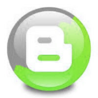 blogger green logo