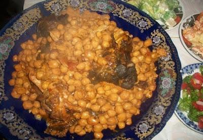 لحم الراس بالحمص والزبيب, طريقة عمل لحم الراس, الحمص, الزبيب , زبيب, حمص