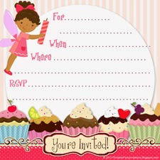 cupcake fairy 1 invite template