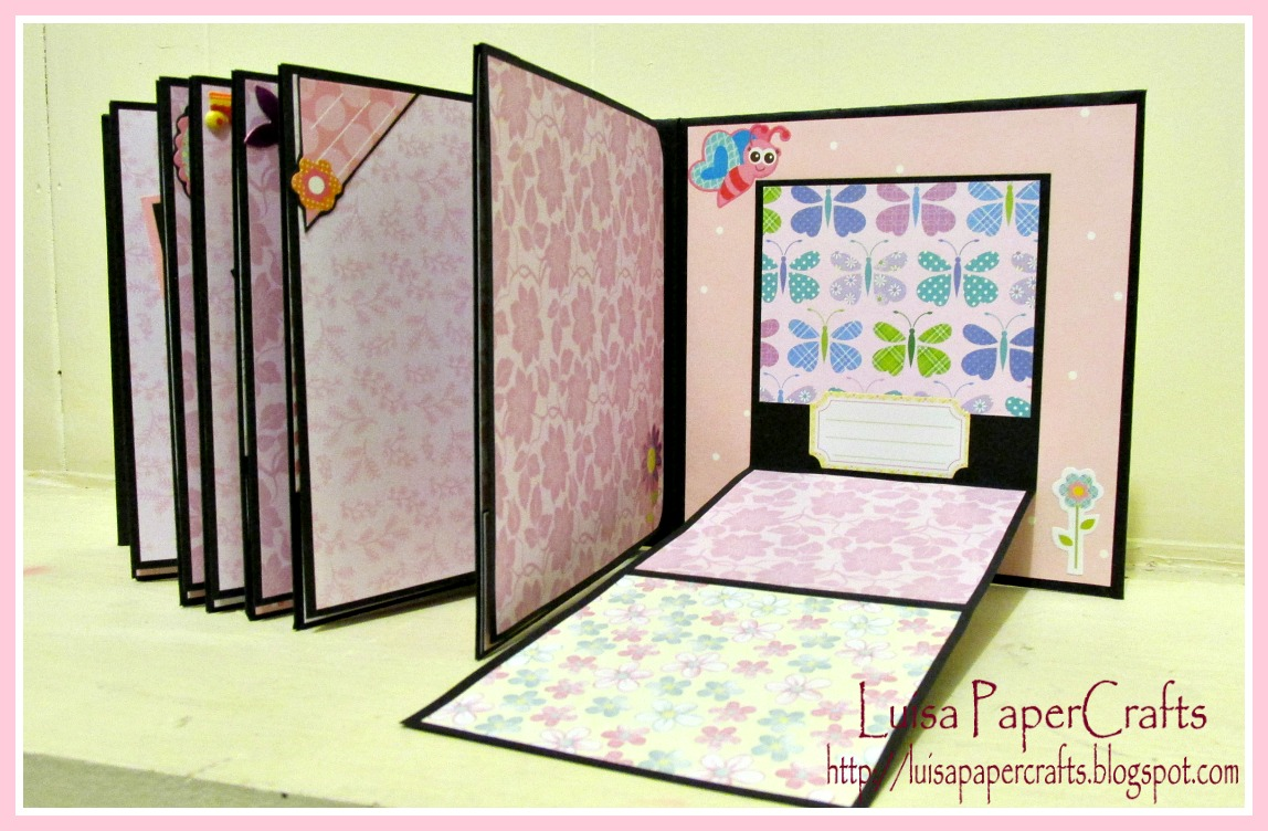 Luisa papercrafts mini album ni a - Decorar album de fotos por dentro ...