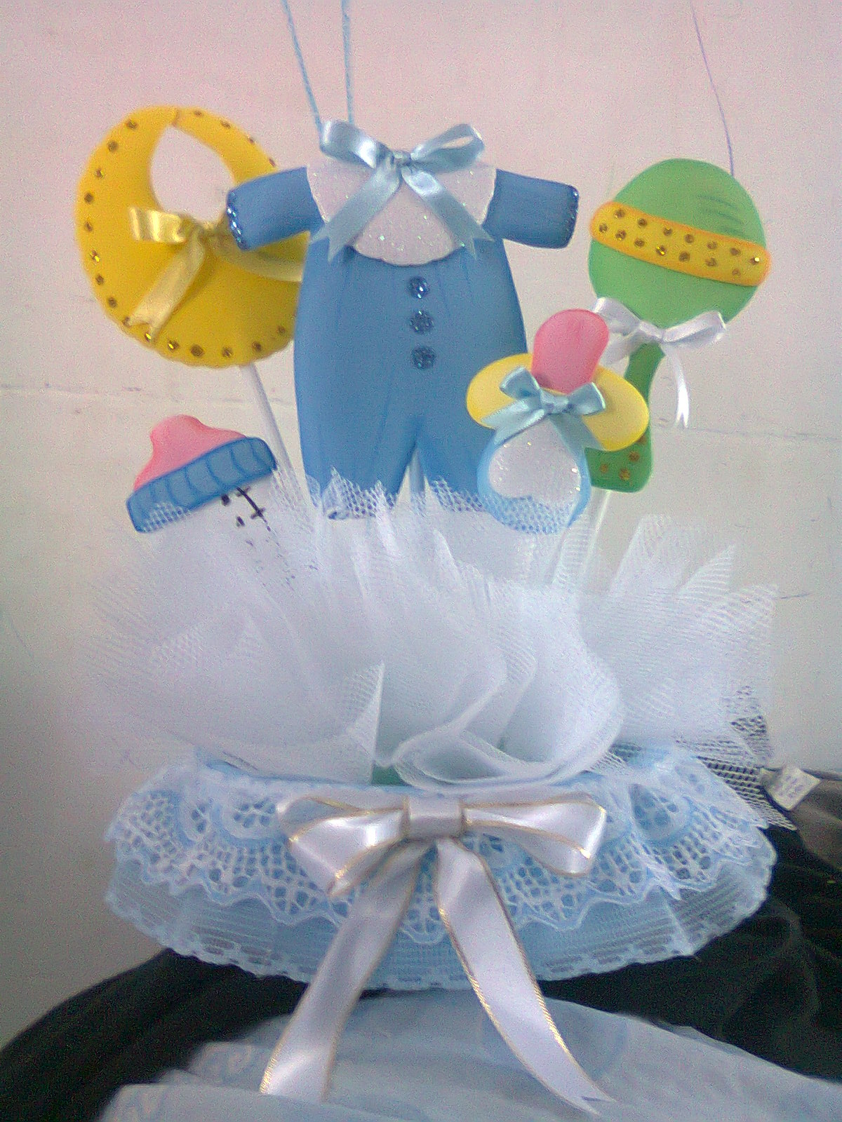 Todo foami centro de mesa para baby shower ni o for Mesa baby shower nino