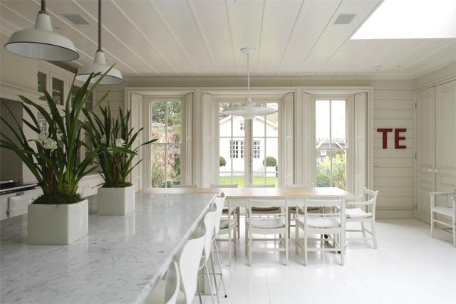 decoracion cocina comedor blanca