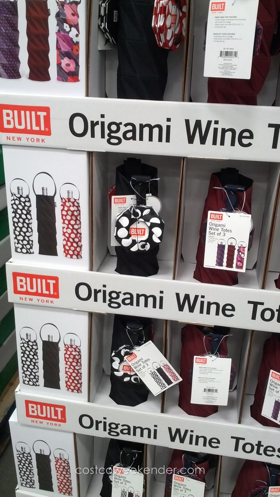 built new york origami wine totes set of 3 costco weekender