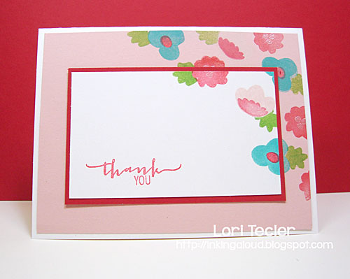 Floral Thank You card-designed by Lori Tecler/Inking Aloud-stamps from Avery Elle