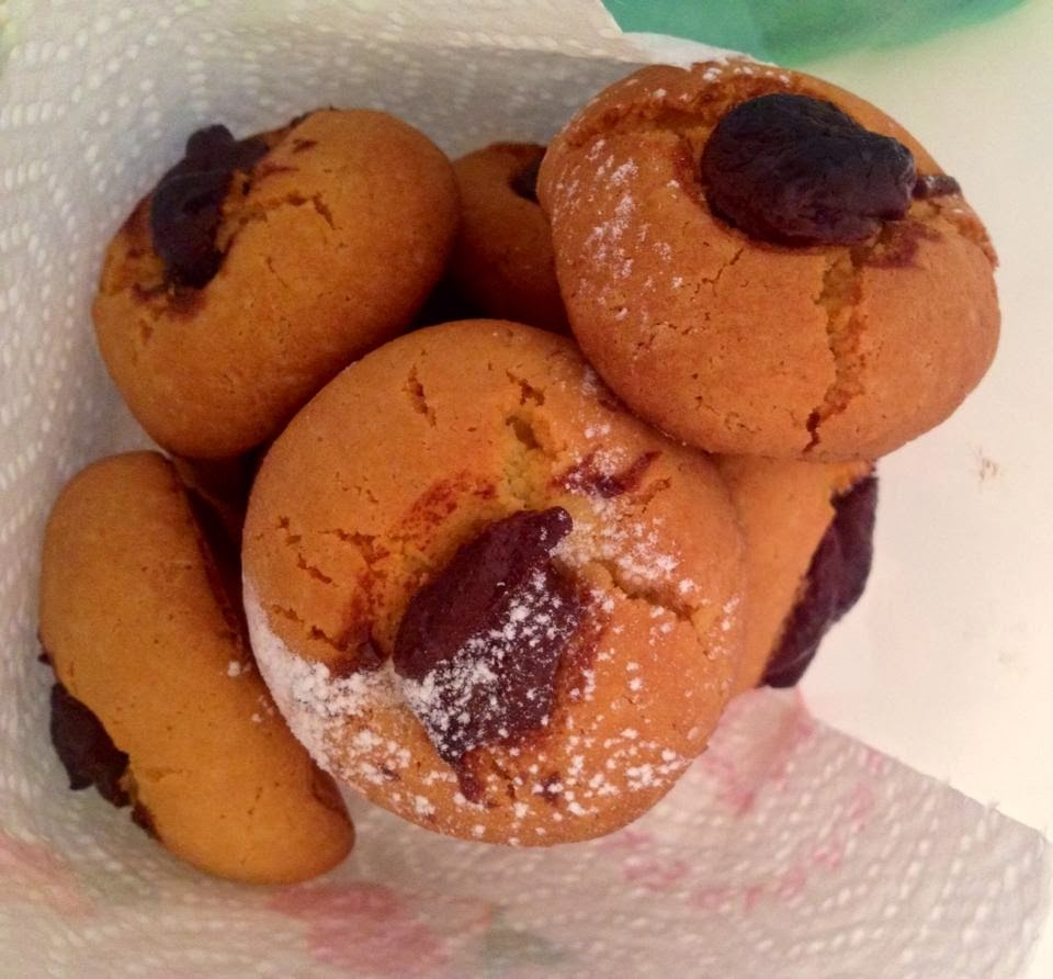 Biscotti alla farina di riso e marmellata/nutella