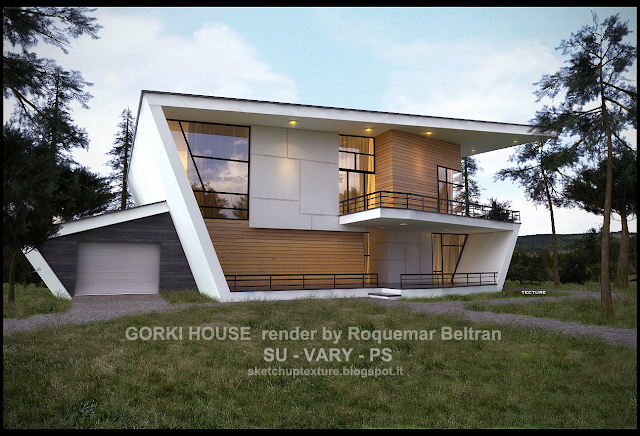 sketchup model gorki_house vray 1.6 beta and visopt