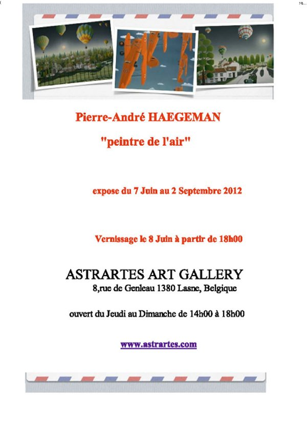Belgianaviationnews Event Invitation Vernissage Expo Pierre Andre
