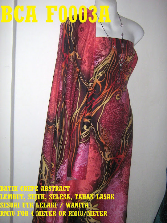 BCA F0003A: BATIK CREPE ABSTRACT,  4 METER