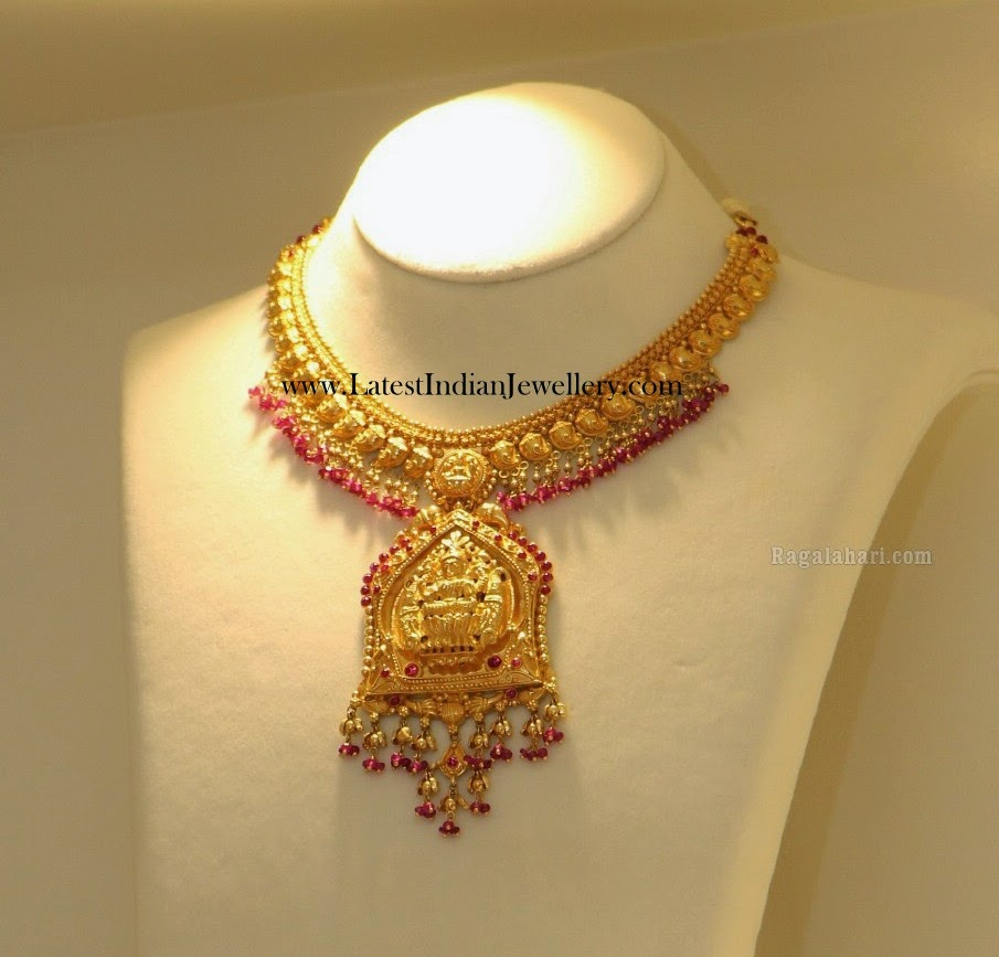 Lakshmi Pendant Gold Necklace