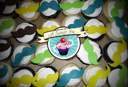 Mustache Cupcakes for Little Man Baby Shower