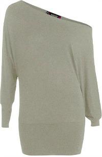 Oversized 80s Off-shoulder Sweatshirt