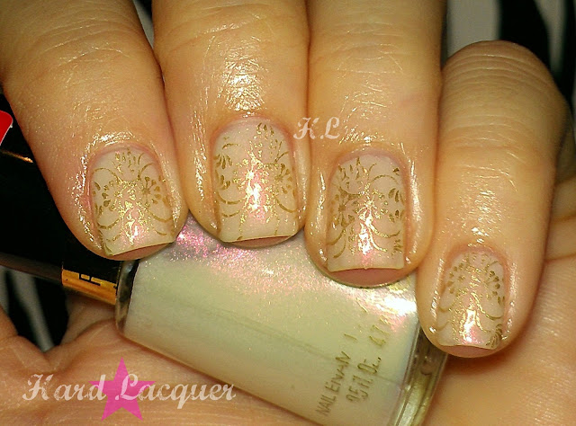 white jelly with pink shimmer
