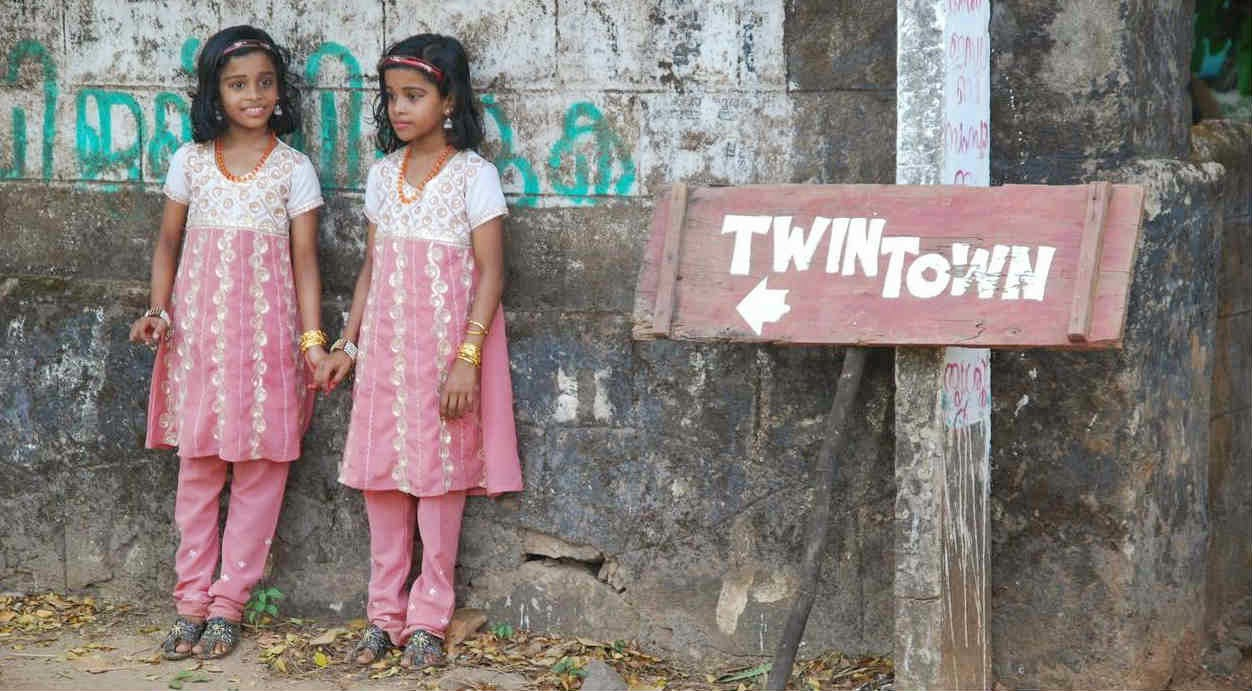 A pair of twins in Kodinhi - The Twin Town