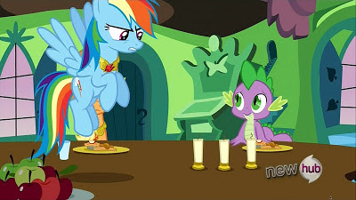 Rainbow isn't impressed with the dancing candles