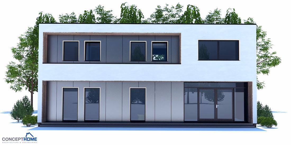 plantas de casas modernas planta de casa moderna ch207