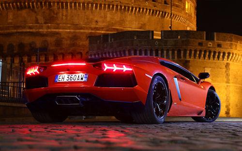 Lamborghini Rojo - Red Lamborghini Aventador