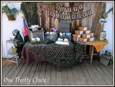 Army military pinata boys camo themed birthday party for Army theme party decoration ideas