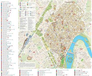 mapa de cordoba españa, plano guia de cordoba andalucia, cordoba map spain, cordoba street map