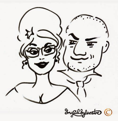 North East Wedding Entertainment ideas Party Entertainment Christmas Party Entertainment Corporate Events Wedding Caricatures and Silhouettes Ingrid Sylvestre UK caricaturist & silhouette artist North East Newcastle upon Tyne Durham Sunderland Middlesbrough Teesside Northumberland Yorkshire Wedding caricatures of guests