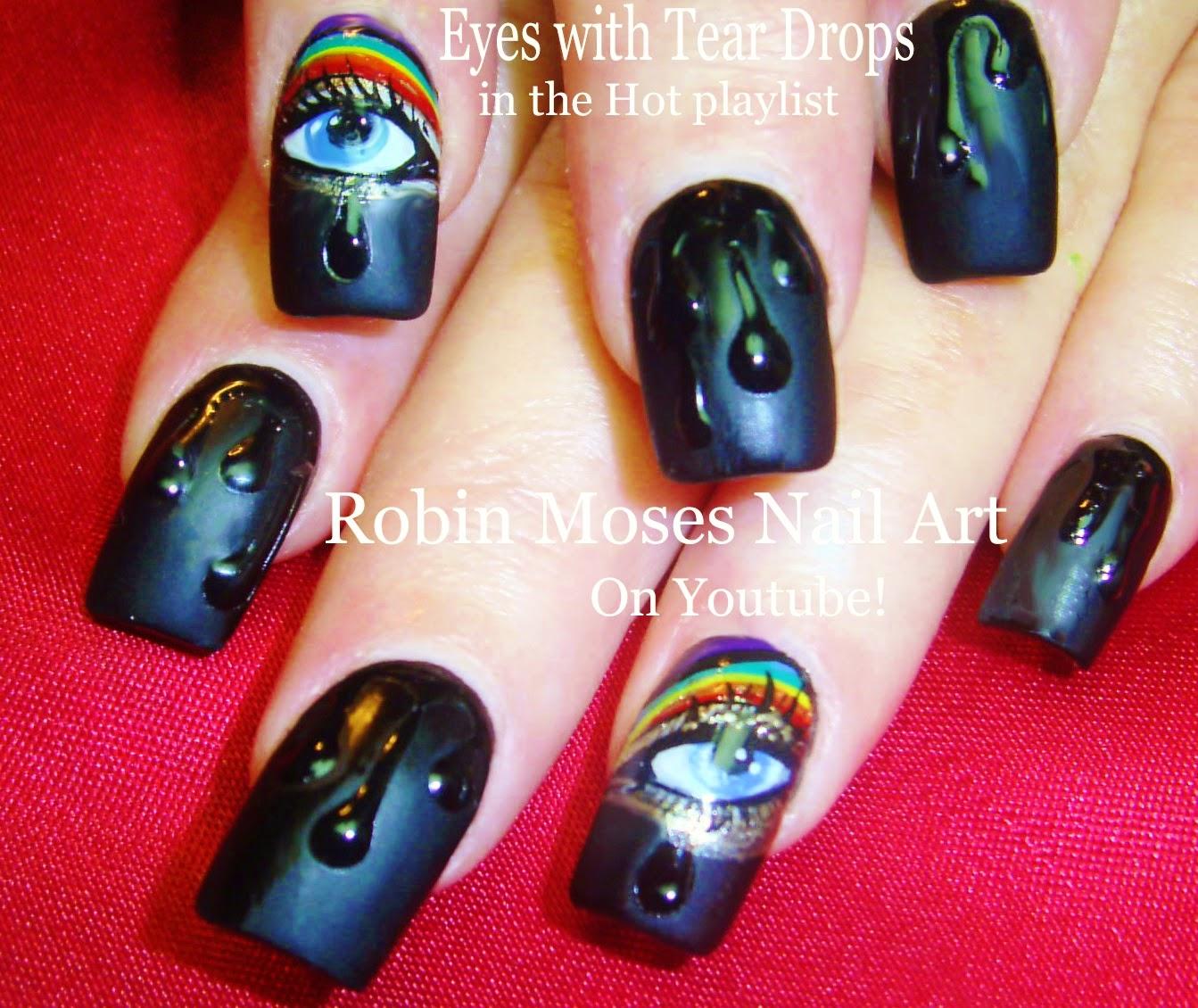Nail Art By Robin Moses Water Drop Nails Nail Art Black Matte