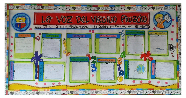 Escuela bolivariana virgilio pinz n 2da edici n de for El periodico mural wikipedia