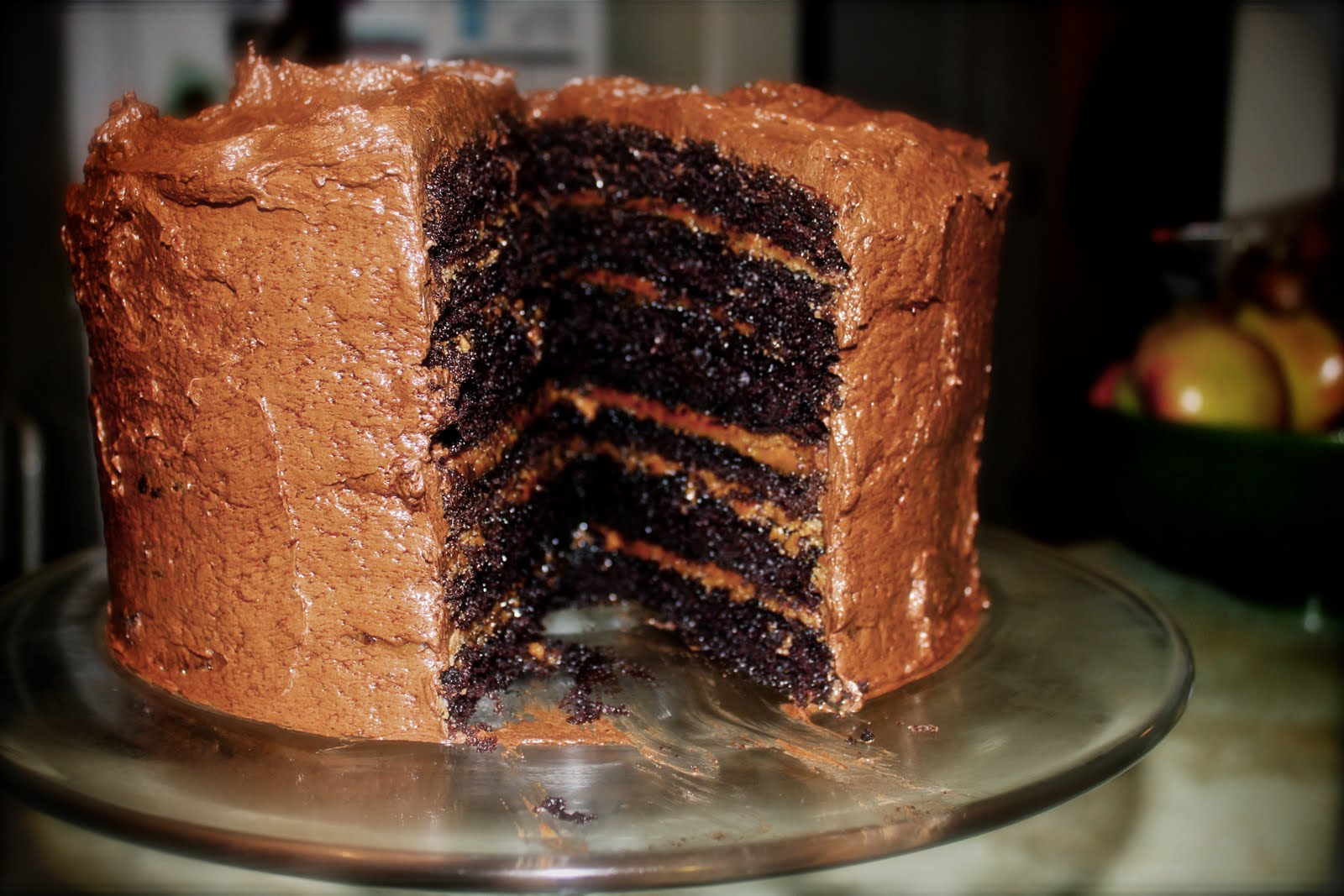 Salted-Caramel Six-Layer Chocolate Cake Recipe — Dishmaps