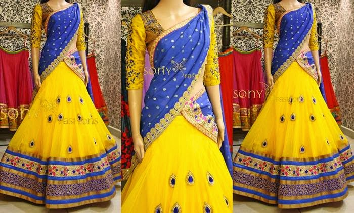 Haldi Yellow Half Saree