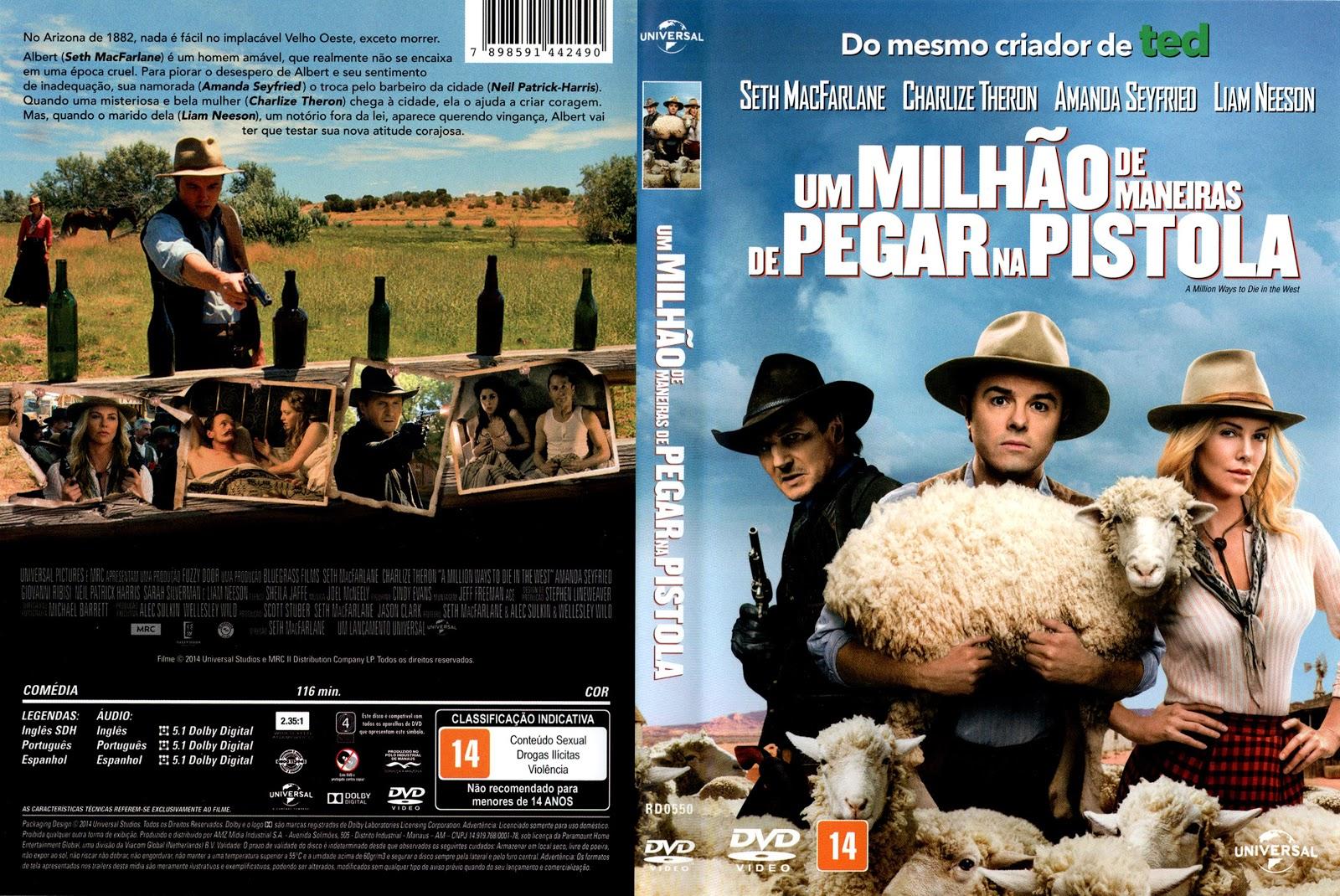 Capa DVD Um Milhão De Maneiras De Pegar Na Pistola