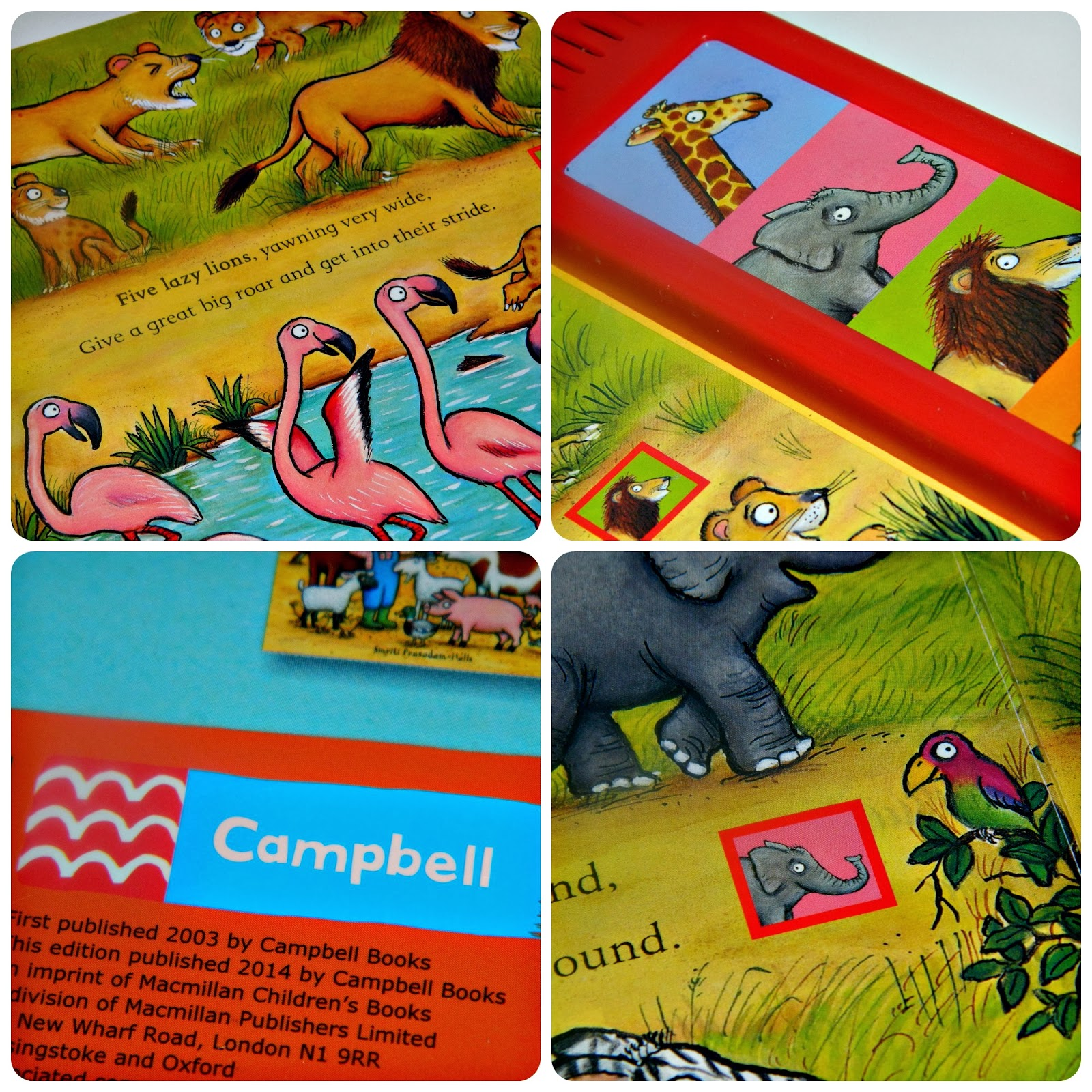Axel Scheffler's Noisy Jungle from Campbell Books Close Up Detail