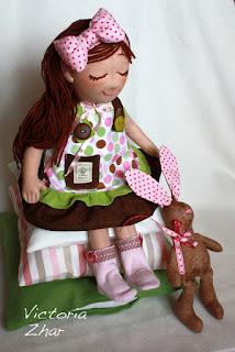 Victoria Zhar, куклы ручной работы, tilda