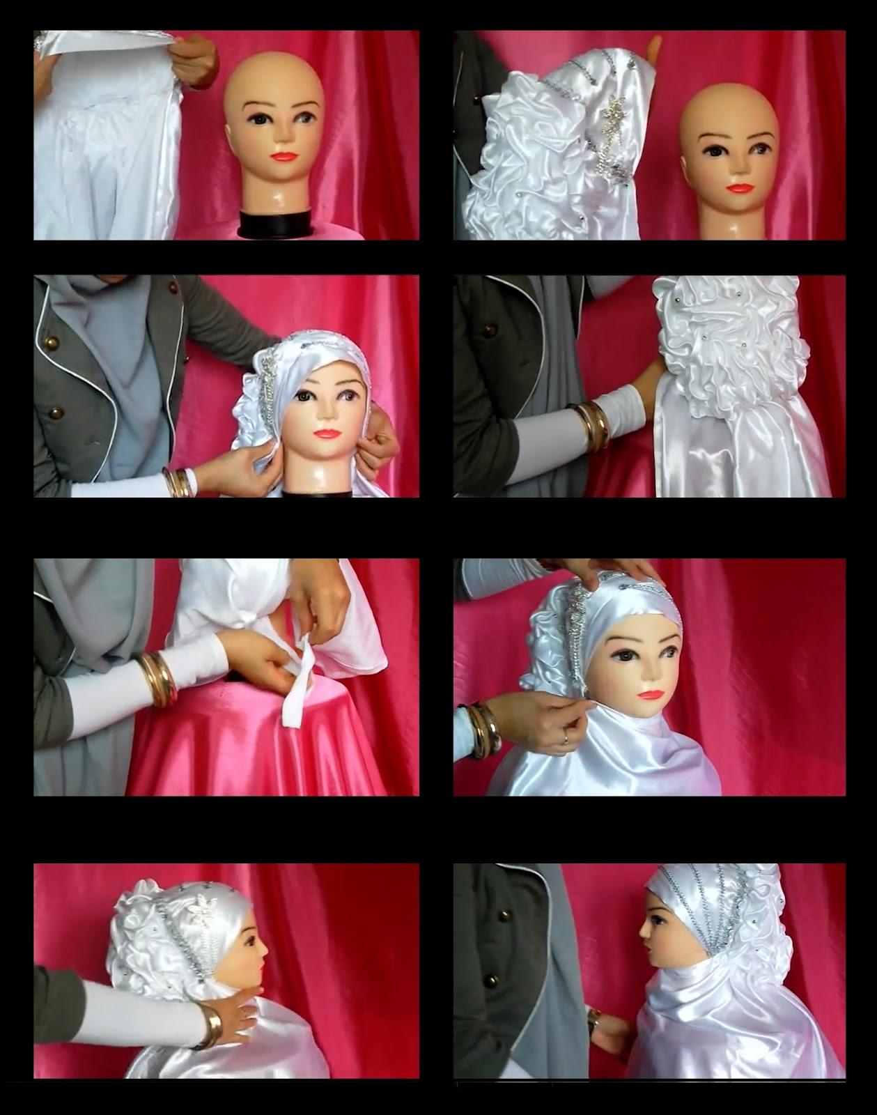 Méthode simple comment mettre hijab mariée