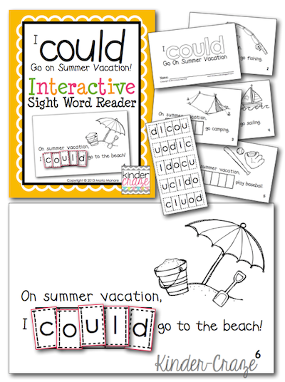 kindergarten emergent reader for summer