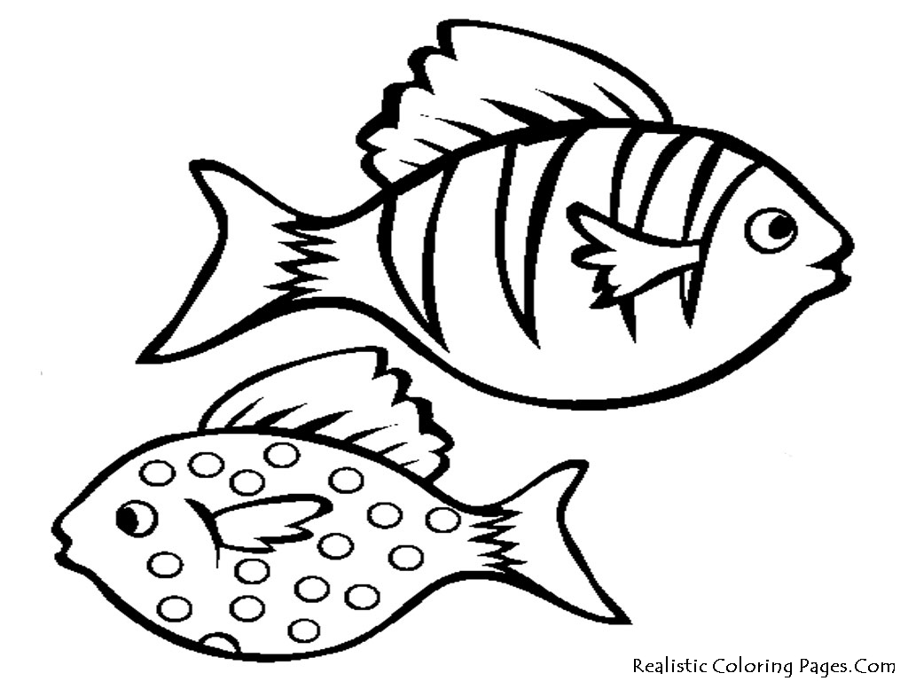 Aquarium Fish Printable Coloring Sheet Realistic