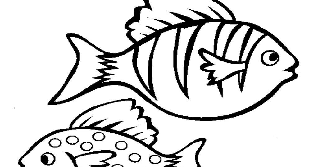Aquarium Fish Printable Coloring Sheet