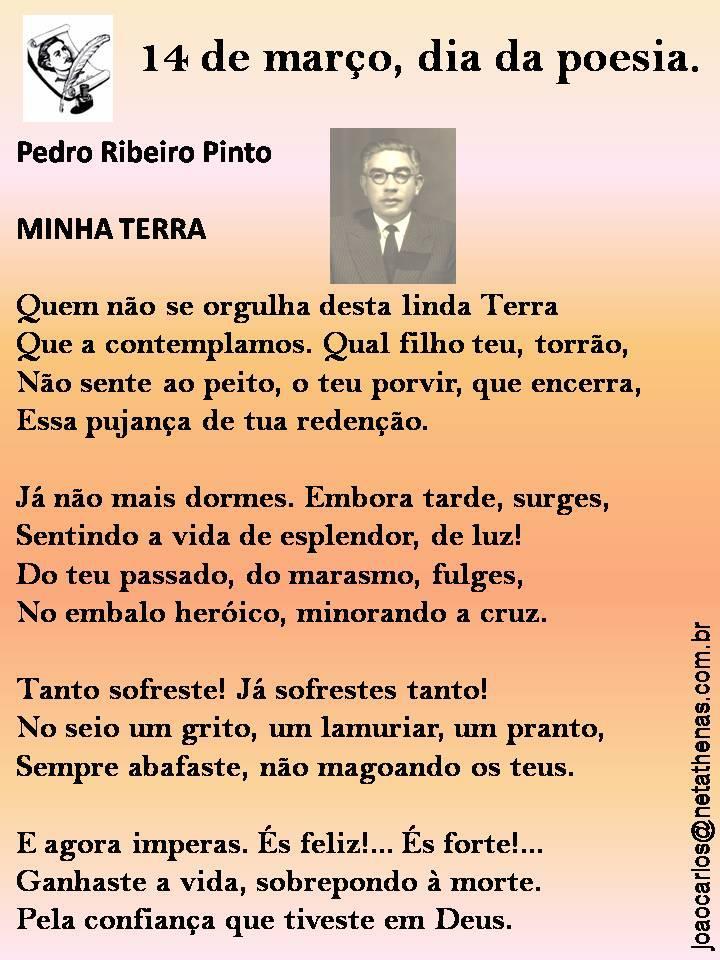 Poeta Pedro Ribeiro Pinto