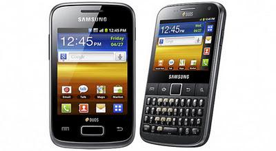 Galaxy Y Duos dan Galaxy Y Pro Duos