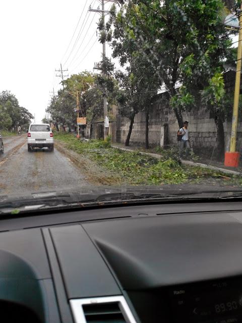 B Hotel during typhoon #glenda