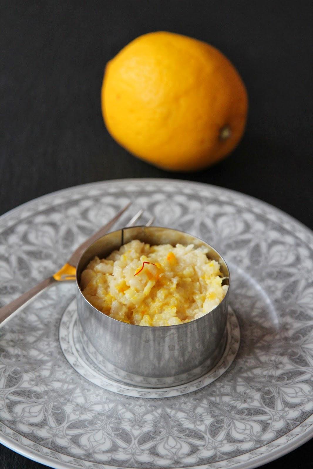 miam, maman j'ai faim!: risotto au citron et au safran