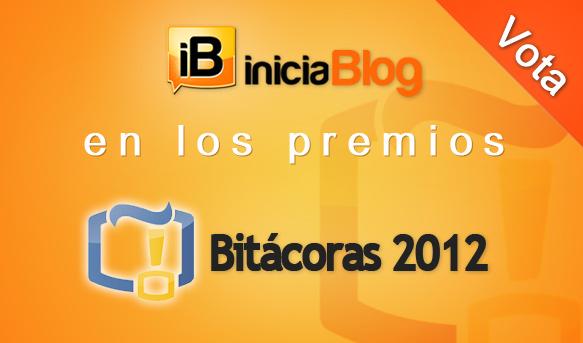 iniciaBlog en los premios Bitácoras 2012