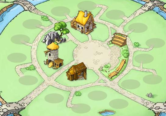 Tu aldea al principio del juego de Travian