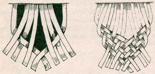 Пояс-косичка техникой макраме