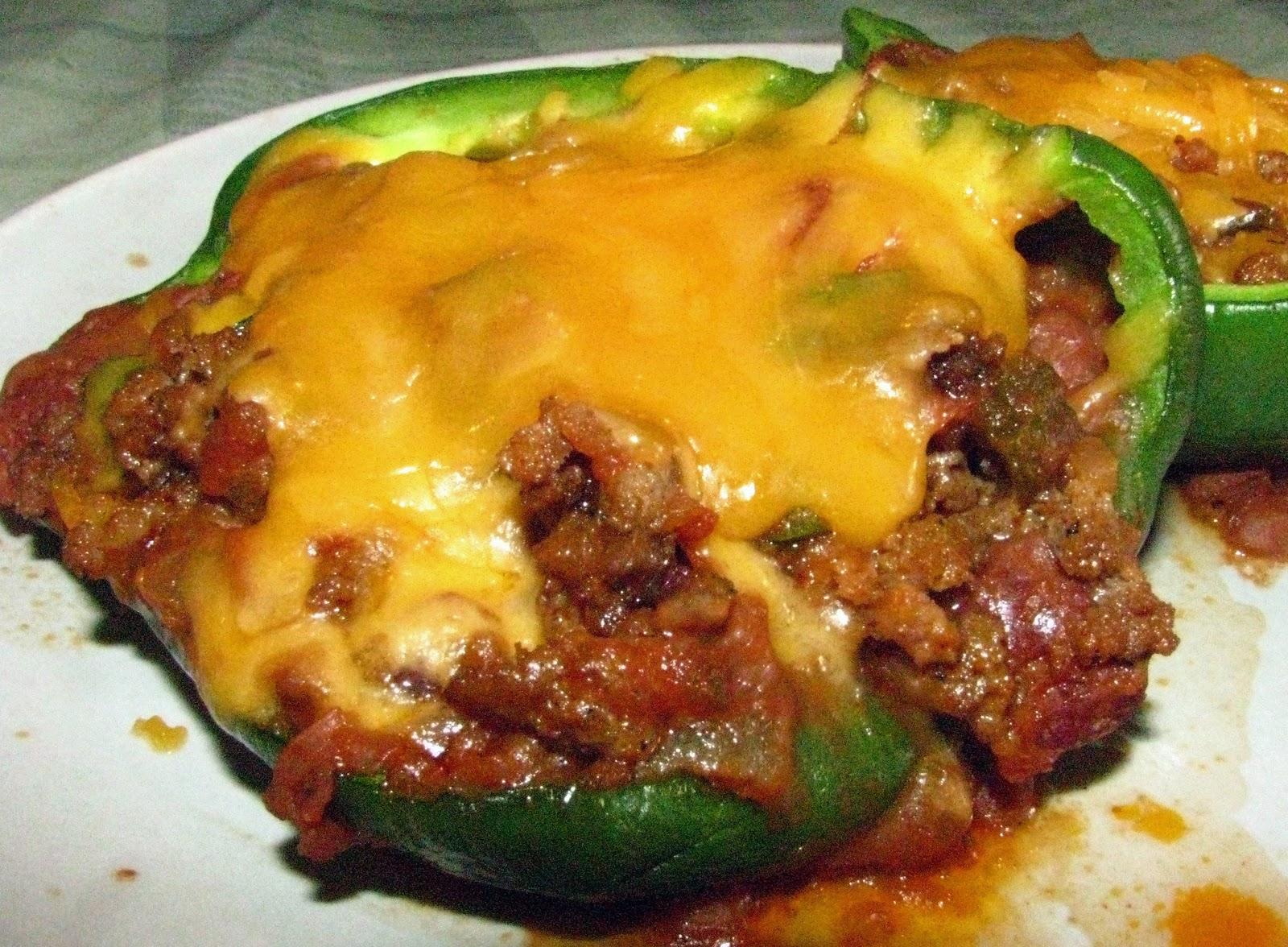 Angelgirlpj: Burrito Stuffed Green Peppers and Salsa