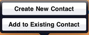 iOS dialogue box