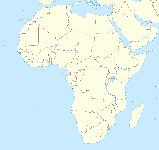 Peach color Africa outline map with no country or feature labelling.