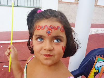 Pintacaras de princesa en Matalascañas