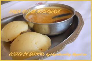 semolina or rawa idli south indian steamed dumplings serve with sambhar and chutney