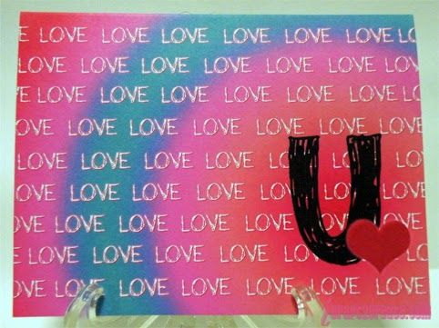 Lettering Delights, Photoshop, Fiskars, Valentine Card