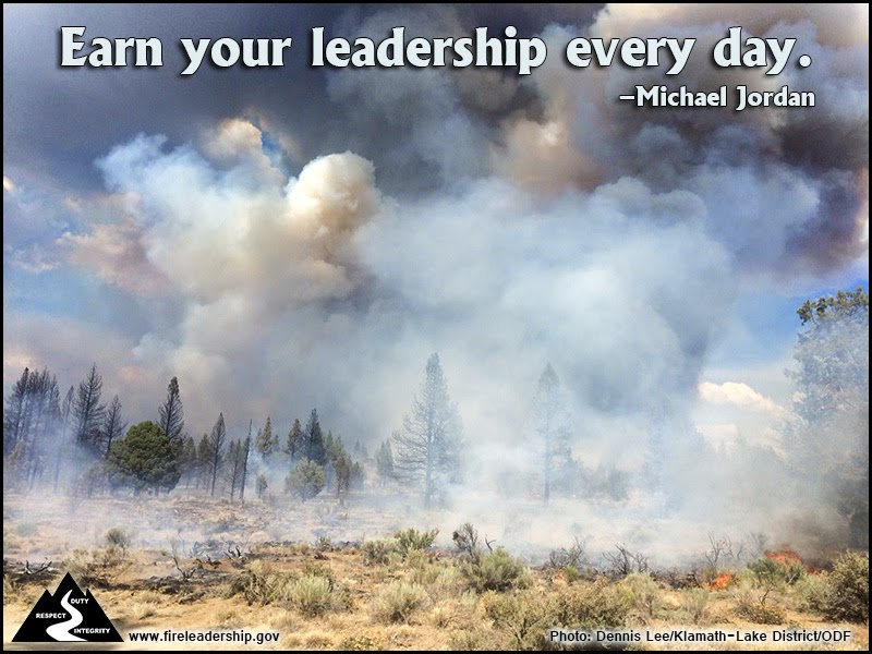 """Earn your leadership every day."" ~ Michael Jordan"