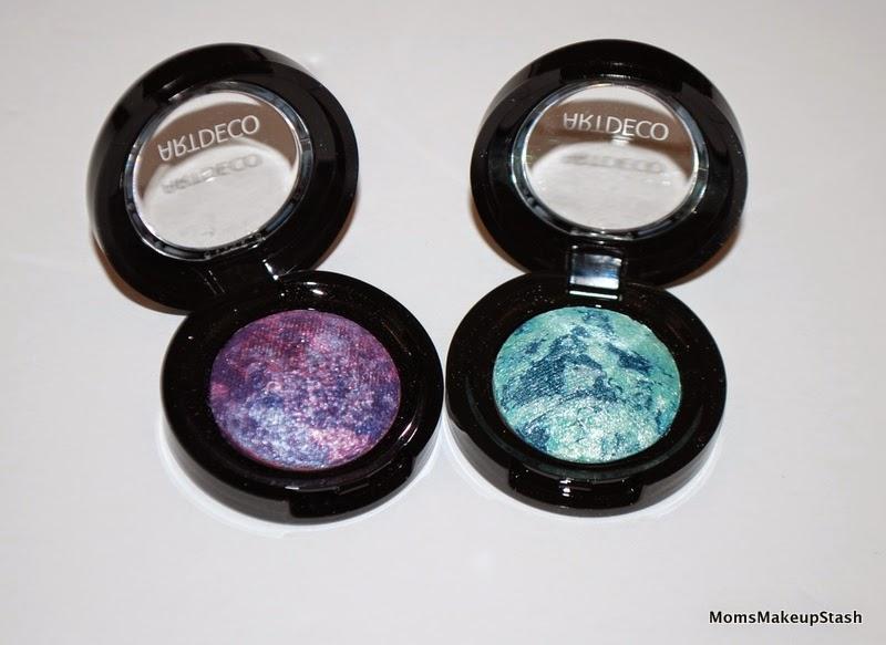 ArtDECO Review, ArtDECO Swatches, ArtDECO Giveaway, ArtDECO Jungle Fever Collection, ArtDECO Bronzing Collection, ArtDECO Baked Eye Shadows, Baked Eye Shadows, Marbled Purple, Marbled Green