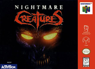 Download Emulator Rom Nightmare Creatures N64 Box Art
